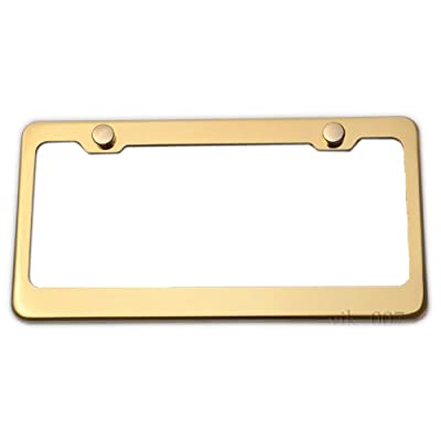 LFPartS Stainless Steel License Plate Frame (Gold): Automotive