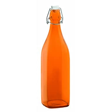 Bormioli Rocco Swing Bottle, 33-3/4-Ounce, Orange