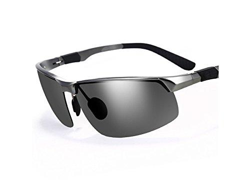 y de Libre Gafas para Hombre Aluminio para Pistola ATTOUPAN de al antideslumbrante Gafas Sol magnesio Sol Marco de Deportes Aire Gris de polarizadas pwwaqU1