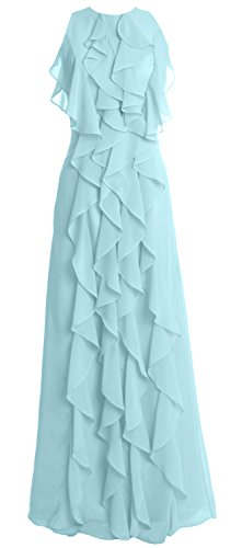 Evening Chiffon Dress O Long MACloth Party Gown Wedding Aqua Women Bridesmaid Neck wzxWRqB