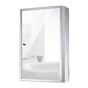 "HomCom 24"" x 16"" Stainless Steel Bathroom Mirror / Medicine Cabinet"