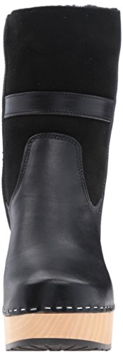 Swedish Hasbeens Women's Hippie Low Boot Black FUL3xd6IM