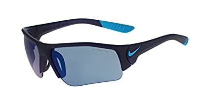 98b374f7aef9e Nike Golf Skylon Ace XV Junior Sunglasses, Matte Midnight Navy/Blue Lagoon  Frame, Grey with Blue Sky Flash Lens