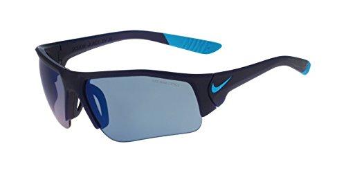Nike Golf Skylon Ace XV Junior Sunglasses, Matte Midnight Navy/Blue Lagoon Frame, Grey with Blue Sky Flash - Nike Ace Sunglasses Skylon
