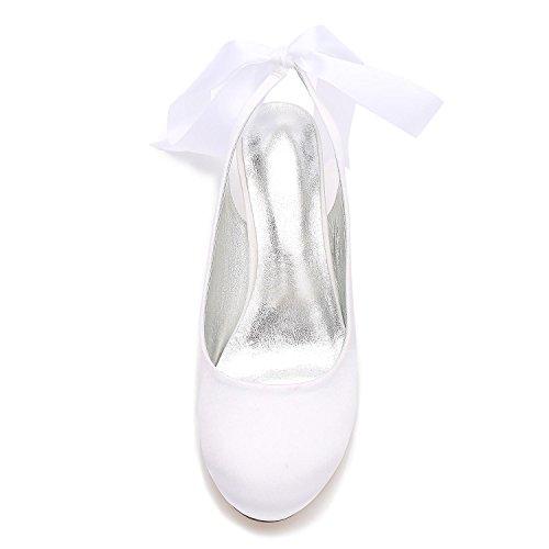 L@YC Damen Schuhe T-17061-46 Hochzeitsschuhe für Braut mit Geschlossener Zehe Medium Champagne