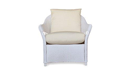 Lloyd Flanders 72202-001-249 Freeport Collection Lounge Chair in White Loom Finish, Spectrum Indigo (Lloyd Flanders)