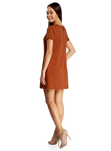 oodji Ultra Mujer Vestido Holgado de Tejido Texturizado: Amazon.es: Ropa y accesorios