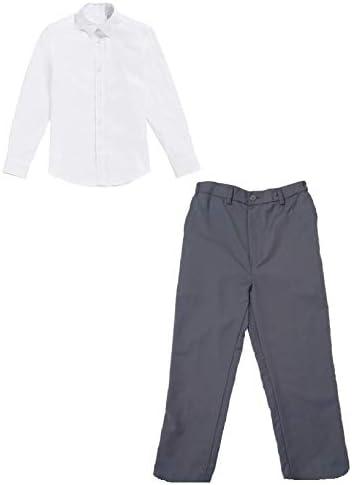 Basic Set: pantalón de niño con Camisa Blanca - Conjunto de Traje: Amazon.es: Ropa y accesorios