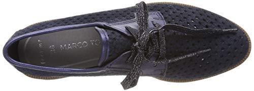 824 Donna Blu 23508 22 2 Premio Marco Tozzi navy Brouge 2 Metallic Stringate Scarpe FUzOq