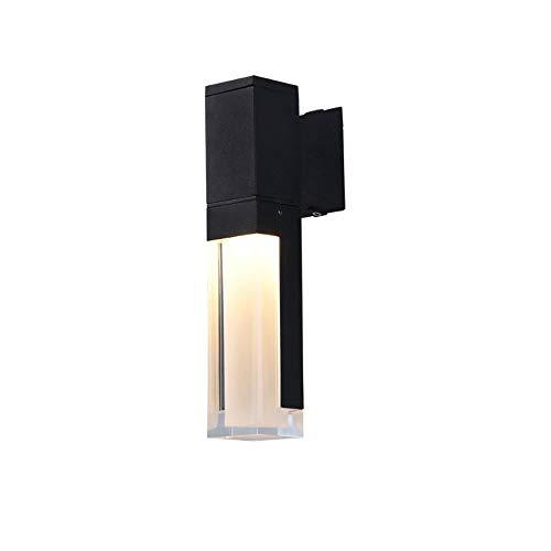 Liunce Rustproof LED Weatherproof Outside Wall Light Modern Aluminum Garden Lamp for Villa Yard Outdoor Aisle Hanging Lawn Sconce Edison European Simplicity Glass Wall -