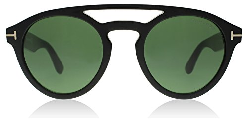 Tom Ford 537 01N Black Clint Round Sunglasses Lens Category 3 Size - Clint Sunglasses