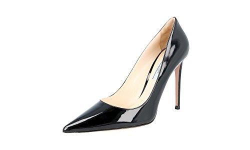 Prada Women's 1I939F 069 F0002 Black Leather Pumps/Heels EU 40.5/US (Prada Black Pumps)