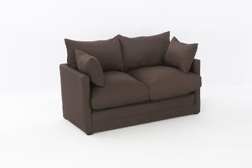 Leanne Sofa Bed in CHOCOLATE Cotton Drill Comfy Living