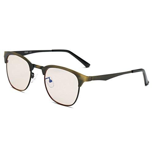 SOJOS Computer Glasses - Classic Metal Frame Anti-Blu-ray Lenses SJ5009 Copper Frame