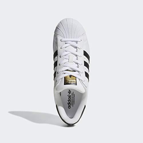 adidas Originals Women's Superstar Sneaker, Black/White, 8.5