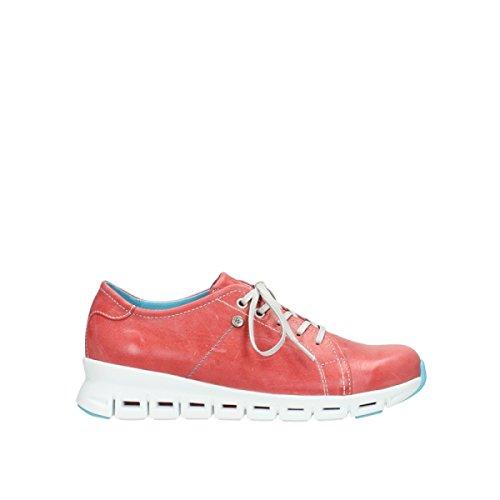 cordones mujer 2051357 Wolky para Rojo de Zapatos wPqaw0Ux7