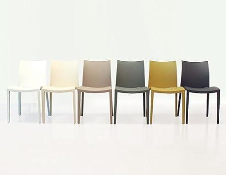 Colico sedia go polipropilene lino set da 4 sedie : amazon.it: casa