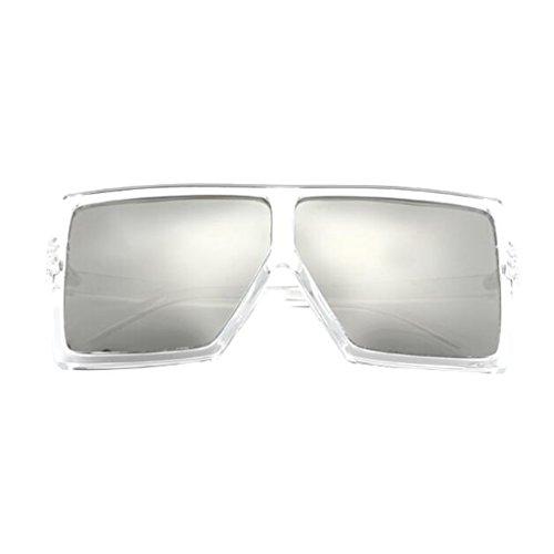 QZ HOME Espejo Sol Polarized Mirror Vintage Ocean Moda Anti Color Movement de Street Reflective Marco Light 1 UV400 Gafas Gran Beat Decorativo 2 rrwnqaAxd