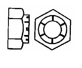 1/2-20 UNJF, 18-8 Stainless Steel Hex Lock Nut 0.752