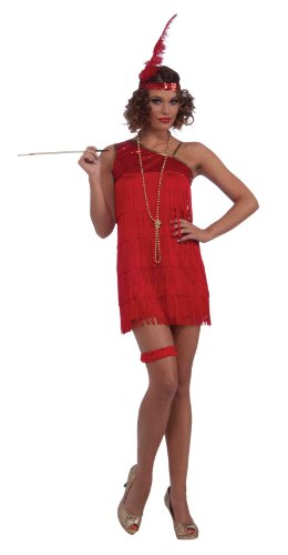 Plus Size Halloween Costumes On Sale (Forum Ruby Dazzle Flapper Dress, Red, Standard)