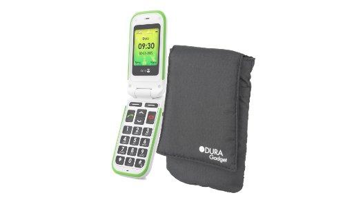 DURAGADGET Nylon Black Mobile Phone Case With Velcro Closure & Belt Loop...