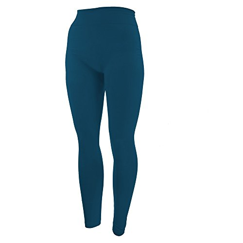 - 31rkihzBHzL - New Mix by New Kathy Fleece Plus Size Leggings, Turquoise