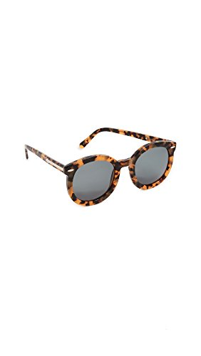 Karen Walker Women's Special Fit Super Duper Strength Sunglasses, Crazy Tort/G15 Mono, One - One Karen Walker