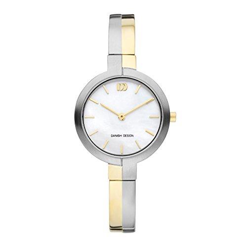 Danish Design Titanium Reloj analógico para mujer Quartz Titanio Oro iv65 q1149