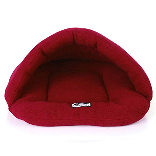 Krastal Dog Bed Cat Soft Fleece Warm Kennel Slipper Shape Small Animals Bed House Pet Mat Puppy Sleeping Bag