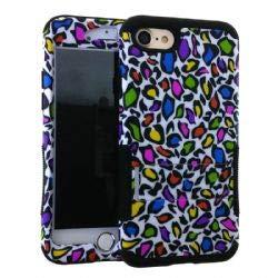 UnlimitedCellular Hopper Hybrid Case - Design Hopper Case. Colorful Leopard Print Snap&Black Ski(I (Snap Print Leopard)