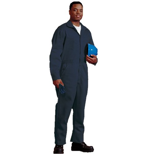 TOPPS SAFETY CO25-3905-Short//52 Indura Coverall Navy Blue 52 Short 52 9 oz