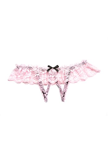 (Shirley of Hollywood Women's Thong Puff Print (Pink/Black;Large/X-Large))