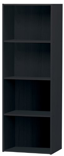 Home Source Industries US3142 BLACK 4-Cube Utility Cabinet, (Height Modular Storage Drawer Cabinet)