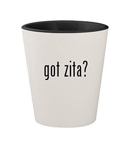 got zita? - Ceramic White Outer & Black Inner 1.5oz Shot Glass -