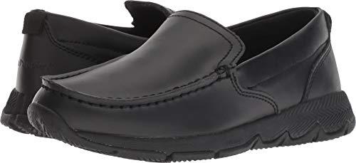 Hush Puppies Boys' School Moccasin TS Field Sneaker, Black, 13 Wide US Little (Leather Field Sneakers)