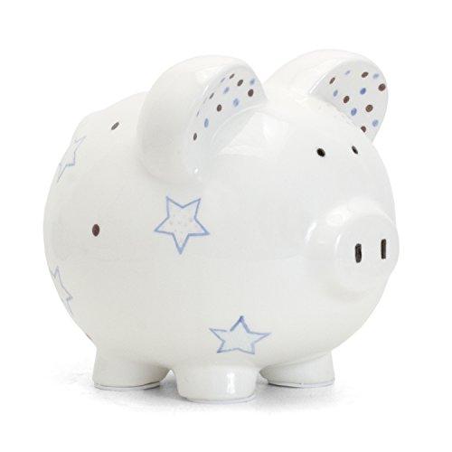 Child to Cherish Ceramic Piggy Bank for Boys, Blue Star