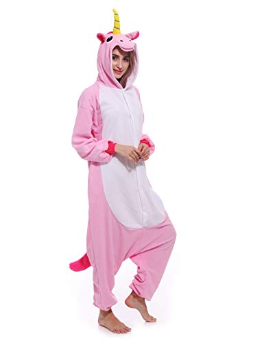 Unicorn One-Piece Pajamas Animal Cosplay Costume Halloween Sleepwear Unisex for -