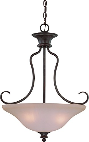 Casual Bowl Pendants Lighting (Craftmade 26333-OB 3 Light Inverted Pendant)