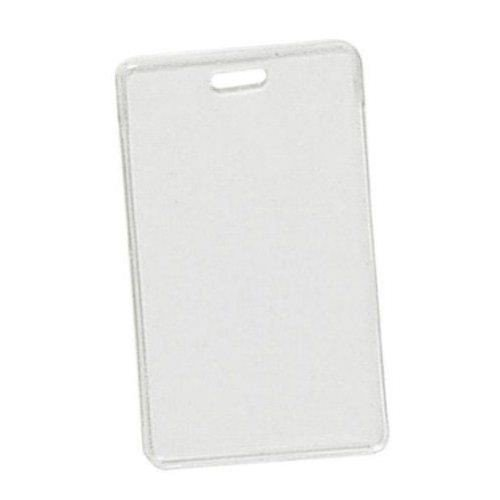 Clear Vinyl Vertical Proximity Badge Holder with Slot - 100pk MyBinding 1840-5050 Clear