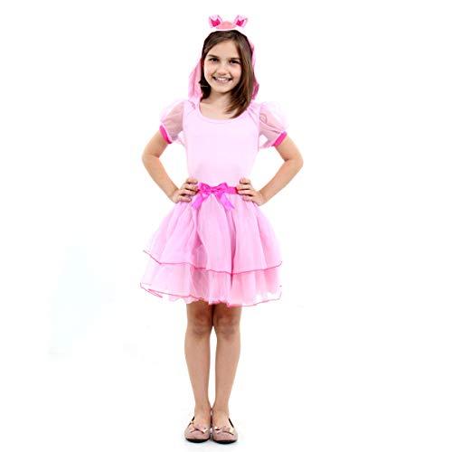 Fantasia Porquinha Infantil Sulamericana Fantasias Rosa Claro M 6 Anos