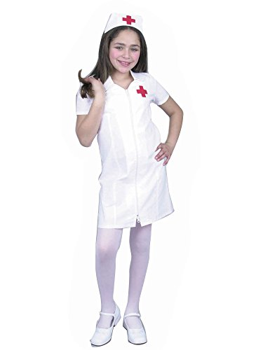 Charades Child's Registered Nurse Costume Dress, White, Medium