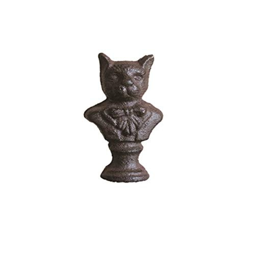 - HENT Cat Schnauzer Cast Iron Ornaments, Study Paperweight, Desktop Decoration Wrought Iron, Home Room Interior Personality Decoration, Toy Home Office Table Decoration Gift (Color : Gentleman cat)