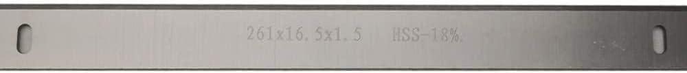 2pcs 261mm HSS Thicknesser /& Cener Blade 261x16.5x1.5mm Cuchillos para Trabajar la Madera para el espesador Scheppach HMS1070 Tama/ño: 2pcs 261mm Improve