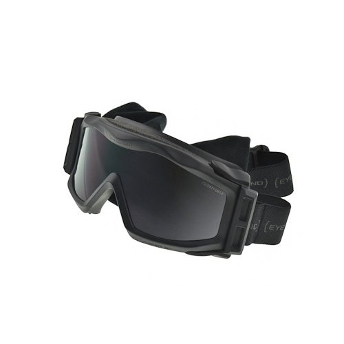 Optx 20/20 Eyedefend US Armor Safety Military Ballistic Goggles with Rx Insert, BlackANSI Z87+ (Includes 2 lens options smoke and - Ballistic Sunglasses Prescription