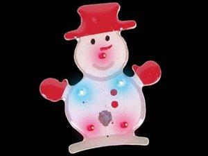FLASHING SNOWMAN PIN