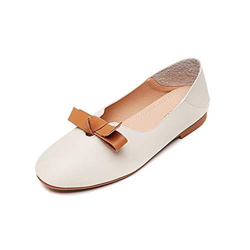 el FLYRCX Oficina de Zapatos de señoras 34 Zapatos la Baja Arco de UE EU Trabajo Boca Planos Los Solos 40 Las Forman cómodos Zapatos Retro de rUfnHzwrxq