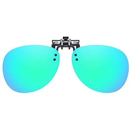soleil on UV400 Vert cadre Unisexe conduite Polarized Clip de sans de Lunettes de soleil Inlefen Lunettes wC0HAqOH