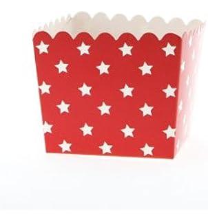 6 de colour rojo de para recipientes de-cajas con diseño de estrellas de colour