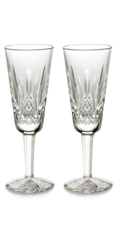 Waterford Lismore Flute Pair, 4-Ounce by Waterford  Crystal