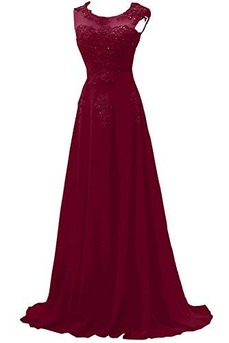 Promkleider Braut Abschlussballkleider Brautmutterkleider mia Weinrot Abendkleider Lang Elegant festlichkleider La Lilac S1x006